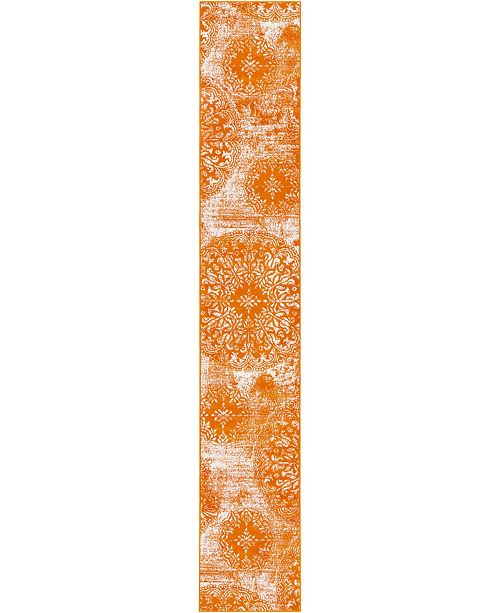 Bridgeport Home Basha Bas7 Orange 2' x 13' Runner Area Rug