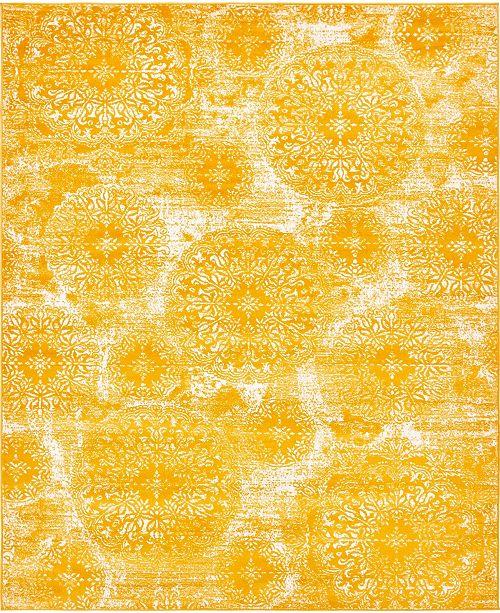 Bridgeport Home Basha Bas7 Yellow 8' x 10' Area Rug