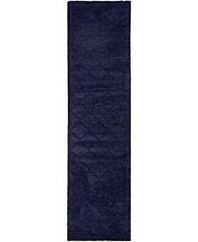 """Filigree Shag Fil2 Navy Blue 2' 7"""" x 10' Runner Area Rug"""