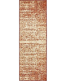 Jasia Jas08 Terracotta 2' x 6' Runner Area Rug
