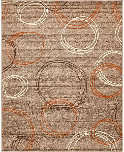 Bridgeport Home Jasia Jas05 Light Brown 8' x 10' Area Rug