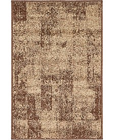 Jasia Jas07 Brown 2' x 3' Area Rug
