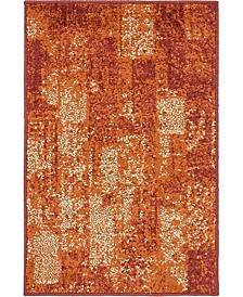 Jasia Jas07 Terracotta 2' x 3' Area Rug