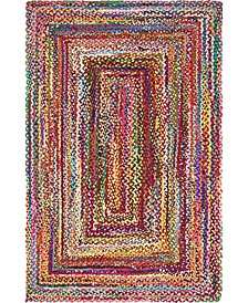 Roari Cotton Braids Rcb1 Multi 5' x 8' Area Rug