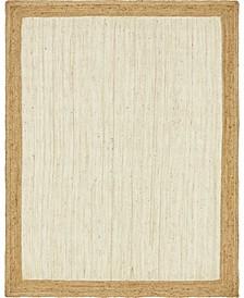 Braided Jute A Bja4 White 9' x 12' Area Rug