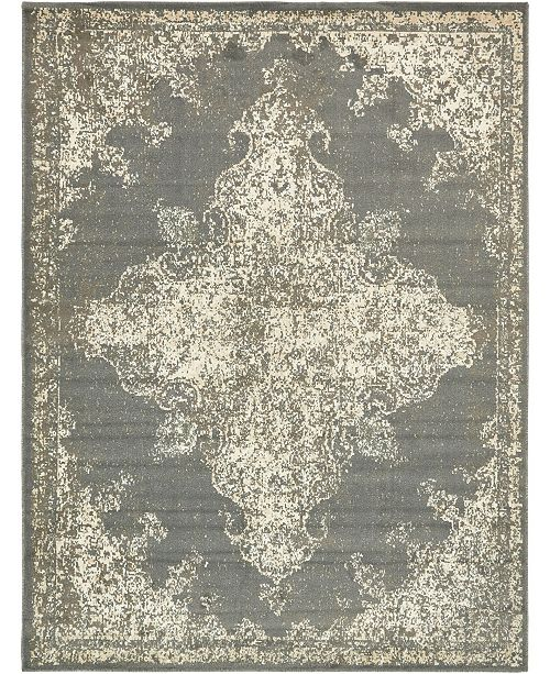 Bridgeport Home Tabert Tab7 Gray 9' x 12' Area Rug