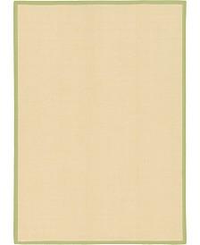 Bridgeport Home Bound Sisal Bds1 Cream/Green 7' x 10' Area Rug