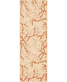 Pashio Pas6 Beige/Terracotta 2' x 6' Runner Area Rug
