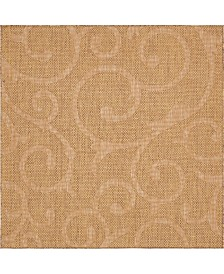 Bridgeport Home Pashio Pas7 Brown 6' x 6' Square Area Rug