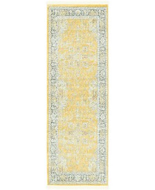"Bridgeport Home Kenna Ken1 Yellow 2' 2"" x 6' Runner Area Rug"