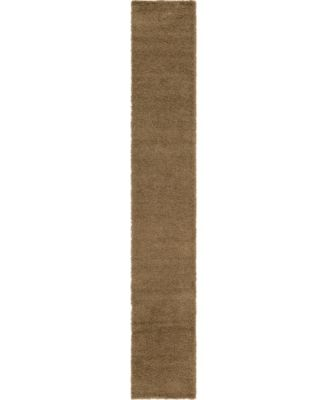 Exact Shag Exs1 Sandy Brown 4' x 6' Area Rug