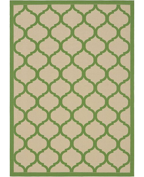 Bridgeport Home Pashio Pas5 Green 7' x 10' Area Rug