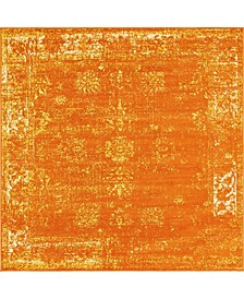Basha Bas1 Orange 6' x 6' Square Area Rug