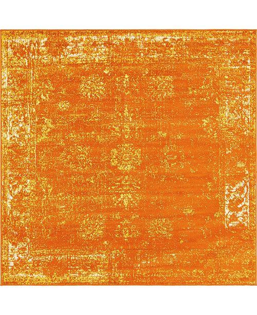 Bridgeport Home Basha Bas1 Orange 6' x 6' Square Area Rug