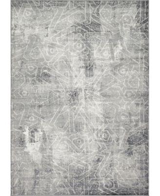 Basha Bas6 Dark Gray 7' x 10' Area Rug