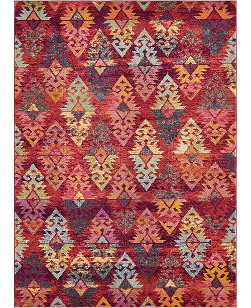 Bridgeport Home CLOSEOUT! Arcata Arc1 Rust Red 9' x 12' Area Rug