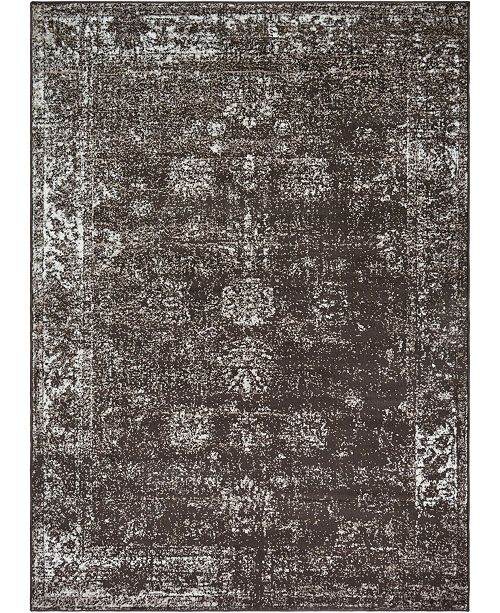 Bridgeport Home Basha Bas1 Brown 7' x 10' Area Rug