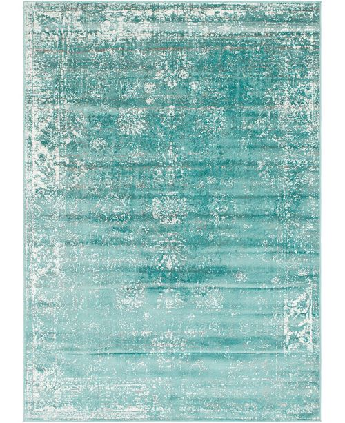 Bridgeport Home Basha Bas1 Turquoise 7' x 10' Area Rug