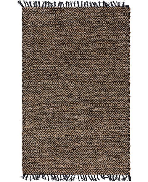 Bridgeport Home Braided Tones Brt3 Natural/Black 5' x 8' Area Rug