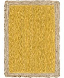 Braided Jute A Bja4 Yellow 2' x 3' Area Rug