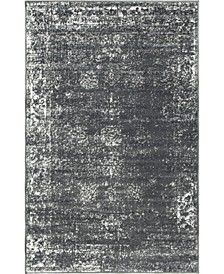 "Basha Bas1 Dark Gray 3' 3"" x 5' 3"" Area Rug"