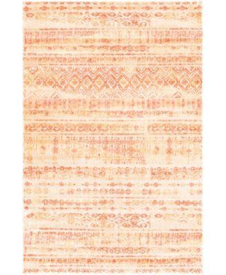Haven Hav2 Orange 4' x 6' Area Rug