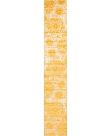 "Basha Bas7 Yellow 3' 3"" x 19' 8"" Runner Area Rug"