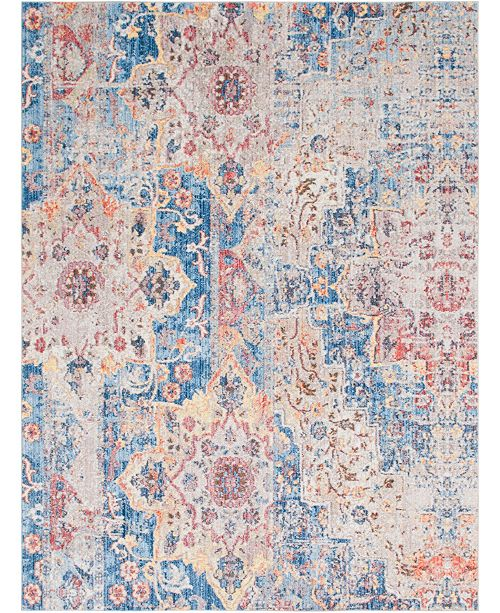 Bridgeport Home Nira Nir3 Blue 9' x 12' Area Rug
