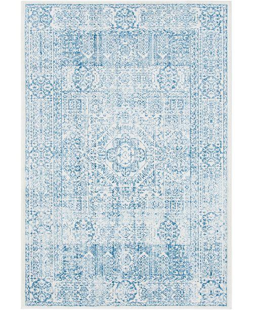"""Bridgeport Home Zilla Zil3 Light Blue 5' 3"""" x 7' 9"""" Area Rug"""