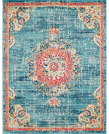 Bridgeport Home Lorem Lor1 Turquoise 8' x 10' Area Rug