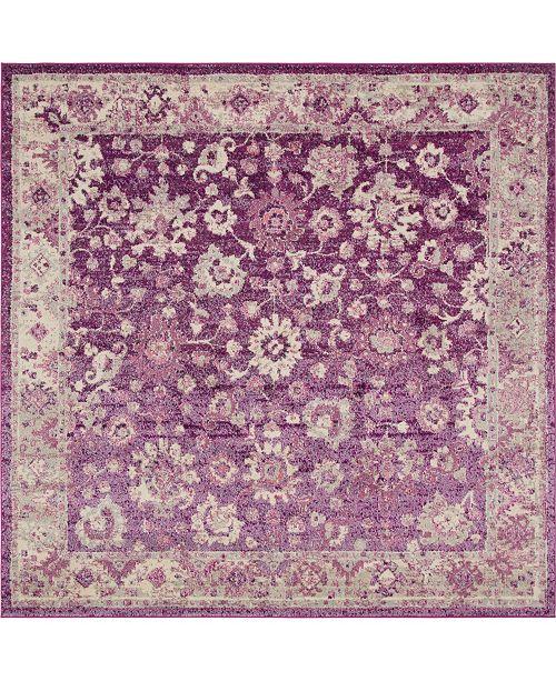 Bridgeport Home Lorem Lor3 Purple 8' x 8' Square Area Rug