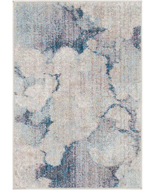 """Bridgeport Home Prizem Shag Prz4 Blue Gray 2' 2"""" x 3' Area Rug"""