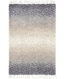 Bridgeport Home Lochcort Shag Loc5 Gray 4' x 6' Area Rug