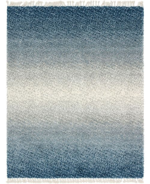 Bridgeport Home Lochcort Shag Loc5 Blue 8' x 10' Area Rug