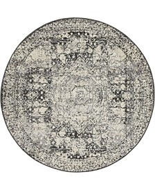 Mobley Mob2 Light Gray 5' x 5' Round Area Rug