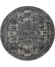 Mobley Mob2 Dark Gray 5' x 5' Round Area Rug