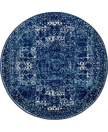 Mobley Mob2 Navy Blue 5' x 5' Round Area Rug