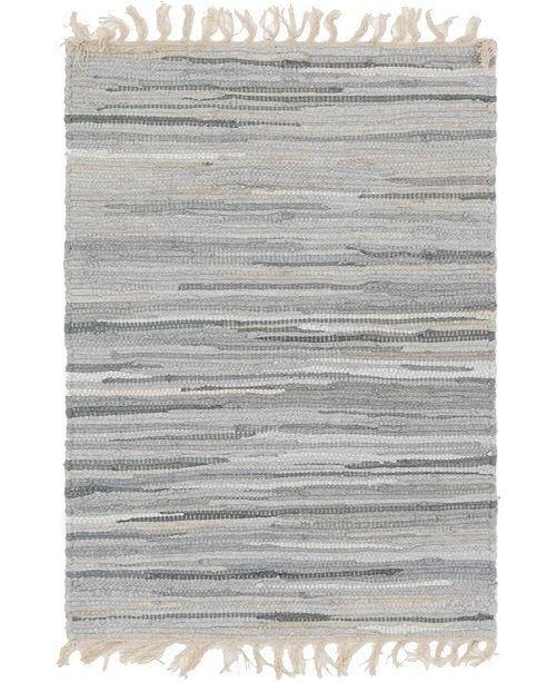 "Bridgeport Home Jari Striped Jar1 Gray 2' 2"" x 3' Area Rug"