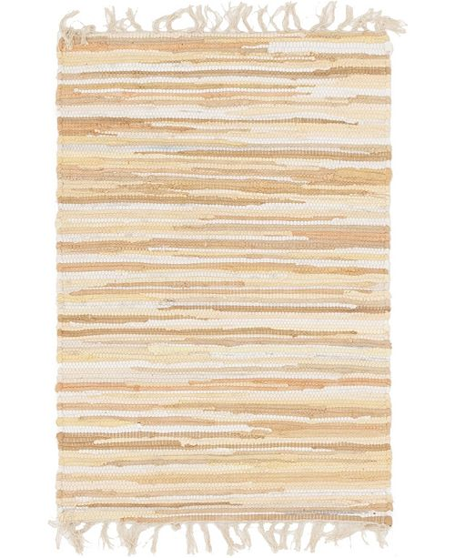 "Bridgeport Home Jari Striped Jar1 Tan 2' 2"" x 3' Area Rug"
