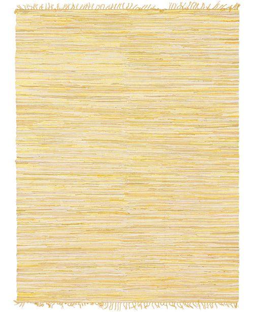 Bridgeport Home Jari Striped Jar1 Yellow 8' x 10' Area Rug