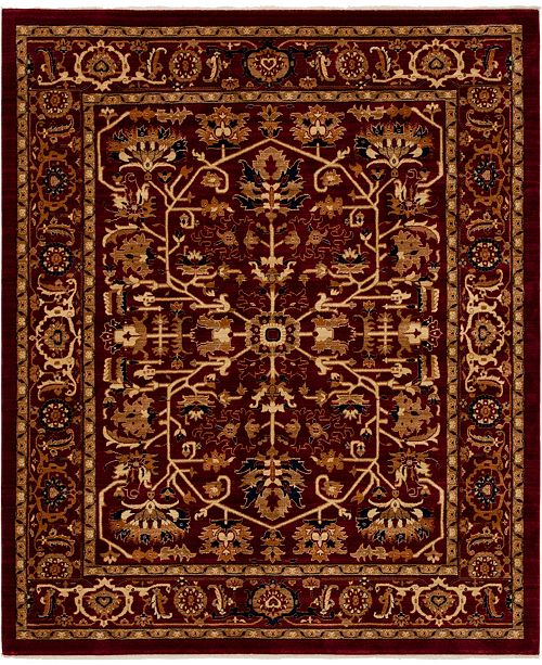 Bridgeport Home Thule Thu1 Burgundy 8' x 10' Area Rug