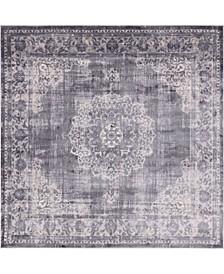Anika Ani1 Gray 8' x 8' Square Area Rug