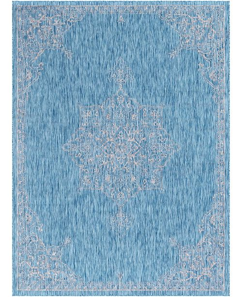 Bridgeport Home Pashio Pas8 Light Aqua 9' x 12' Area Rug
