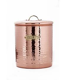 Old Dutch International Hammered Decor Copper Storage Canister, 4-Quart