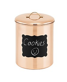 Old Dutch International Copper Chalkboard Cookie Jar with Fresh Seal Cover, 4-Quart