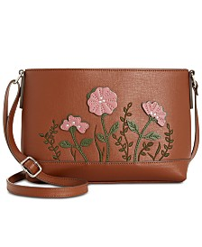 Giani Bernini Saffiano Flower Crossbody, Created for Macy's