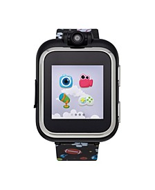PlayZoom Kids Smartwatch with Black Sports Printed Strap