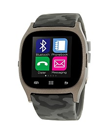 iTouch Smartwatch Gunmetal Case with Camouflage Strap