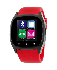 iTouch Smartwatch Black Case with Red Strap
