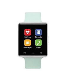 Air Smartwatch 41mm Silver Case with Mint Strap